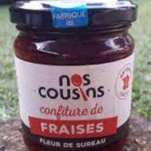 Confiture de fraises-infusion fleur de sureau